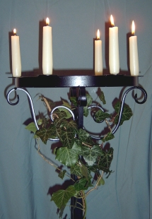 Hire Candelabras (5ft tall) with 6 candles holders, hire candelabras ideal for weddings
