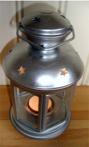 hire lanterns with glass panels