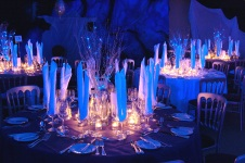 hire glass tea light holders for wedding and functions